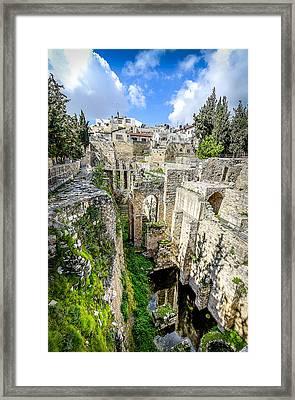 Pool Of Bethesda Framed Print