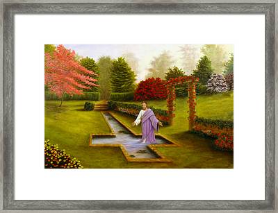 Framed Print featuring the painting Pool Of Forgiveness by Rick Fitzsimons