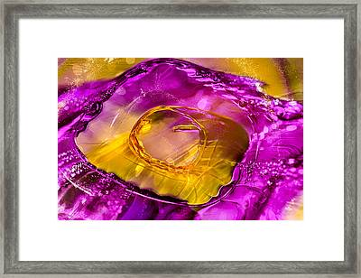 Pool Of Fuscia Framed Print