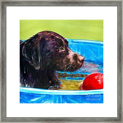 Pool Party Of One Framed Print by Molly Poole