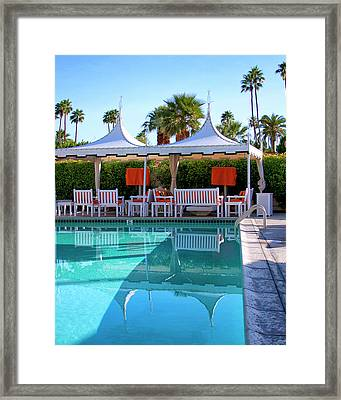 Pool Pavillions Palm Springs Framed Print by William Dey
