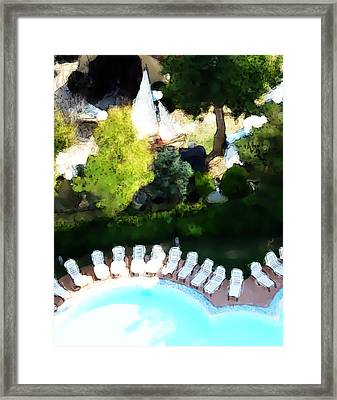 Framed Print featuring the painting Pool - Piscina by Ze  Di