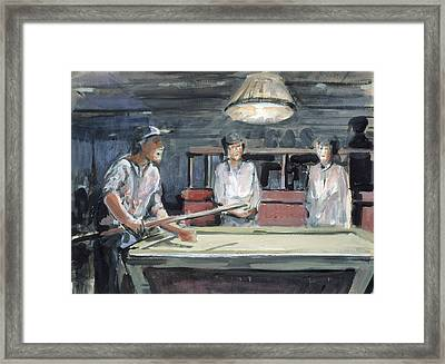 Pool Player Framed Print by Emily Gibson