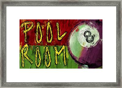 Pool Room Sign Abstract Framed Print by David G Paul