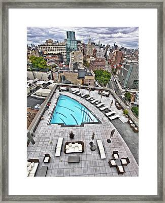 Pool With A View Framed Print