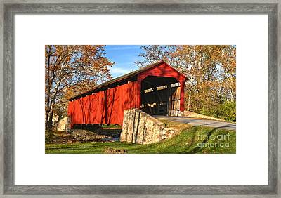 Poole Forge Covered Bridge Crop Framed Print