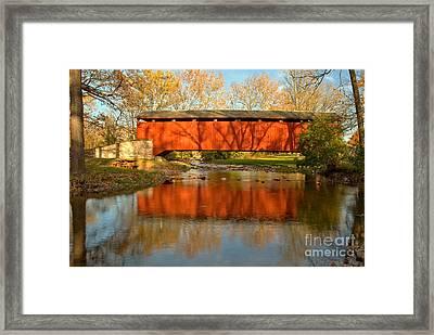 Poole Forge Covered Bridge Mirror Framed Print