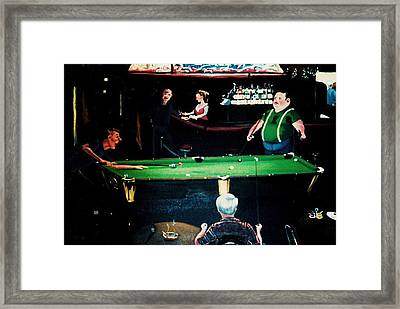 Pooling Around Framed Print