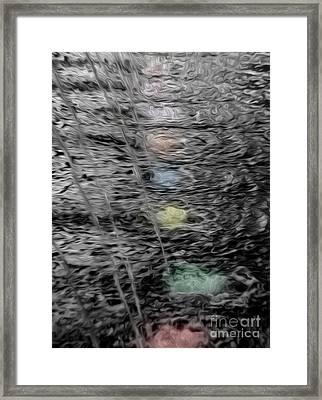 Pools Of Color Framed Print