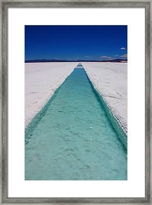 Pools Of Salt Framed Print by FireFlux Studios