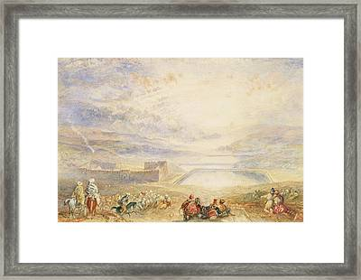 Pools Of Solomon Framed Print by Joseph Mallord William Turner