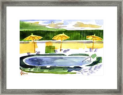 Poolside Framed Print by Kip DeVore