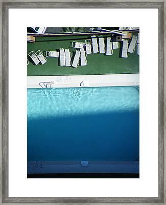 Poolside Upside Framed Print by Brian Boyle