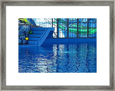 Poolside Framed Print by Wendy J St Christopher