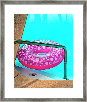 Pool Time Palm Springs Framed Print by William Dey