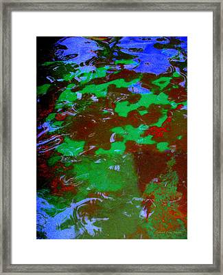 Poolwater Abstract Framed Print by Deborah  Crew-Johnson
