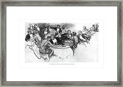 Poor Little Girl - To Think You've Framed Print by Wallace Morgan