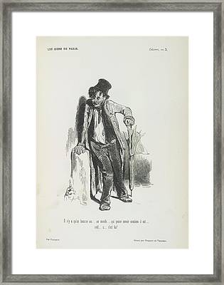 Poor Man Framed Print by British Library