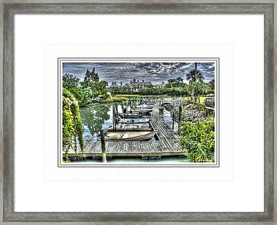 Poor Man's Yachts Framed Print by Barry Monaco