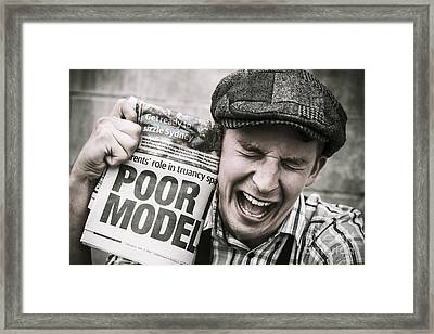 Poor Model Framed Print by Jorgo Photography - Wall Art Gallery