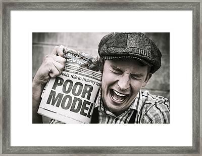 Poor Model Framed Print