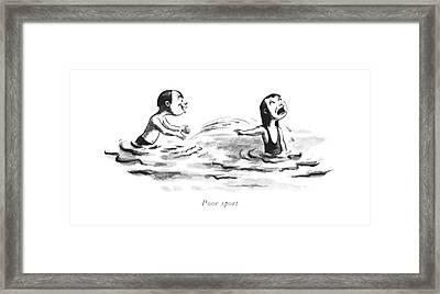 Poor Sport Framed Print by William Steig