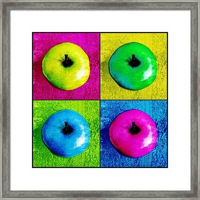 Pop Art Apples Framed Print