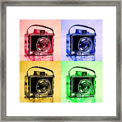 Pop Art Brownie Cameras Framed Print