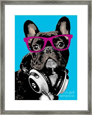 Pop Art Bulldog  Framed Print by Artur Dabrowski