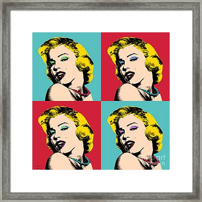 Pop Art Collage  Framed Print