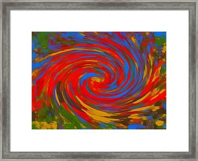 Pop Art Color Swirl Framed Print