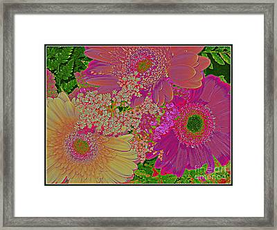 Pop Art Daisies Framed Print by Dora Sofia Caputo Photographic Art and Design