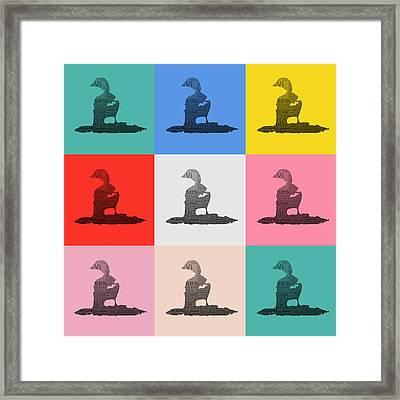 Pop Art Ducks Framed Print by Tommytechno Sweden