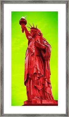 Pop Art Liberty Framed Print by Mike McGlothlen