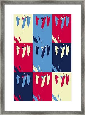Pop Art Pistils Framed Print by Tommytechno Sweden
