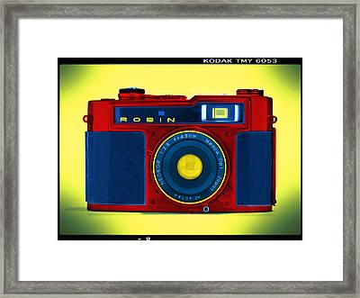 Pop Art Robin Framed Print by Mike McGlothlen