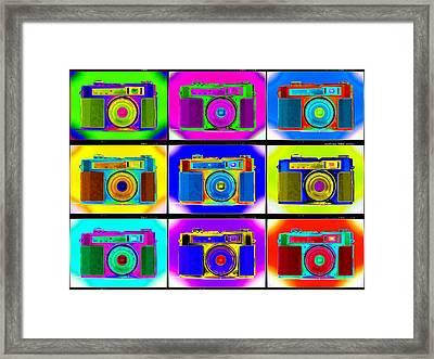 Pop Art Robin Proofs Framed Print by Mike McGlothlen