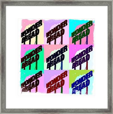 Pop Art Series - Wonder Bread Framed Print