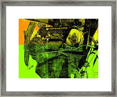 Pop Art Style Machine Gears Framed Print by Ann Powell