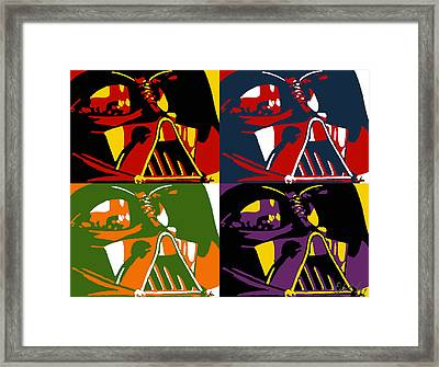 Framed Print featuring the painting Pop Art Vader by Dale Loos Jr