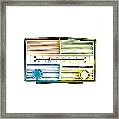 Pop Art Vintage Radio Framed Print