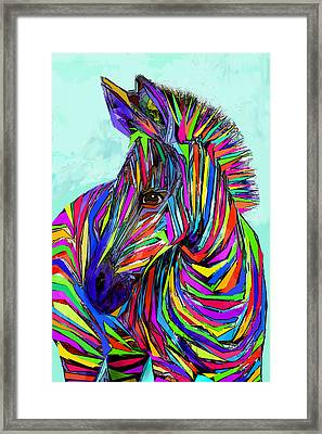 Pop Art Zebra Framed Print