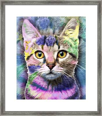 Pop Cat Framed Print