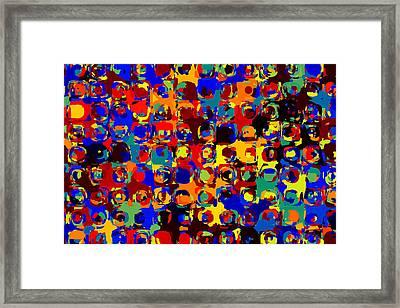Pop Colors 14 Framed Print by Craig Gordon