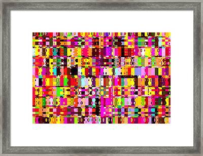 Pop Colors 16 Framed Print by Craig Gordon
