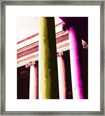 Pop Columns Framed Print