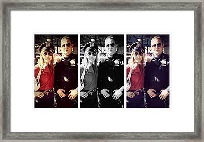 Pop Cop Framed Print by Lisa Piper