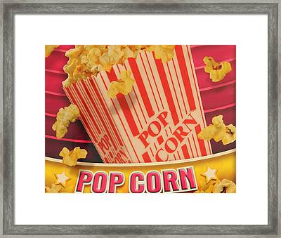 Pop Corn Framed Print