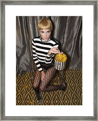Pop Corn Pixie Framed Print by William Dey