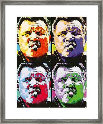 Pop Ditka Framed Print by John Farr